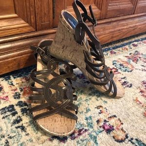 Strapy Cork Wedge Sandals